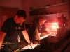 Rob S & Craig hard at work in the engine room at Kinross