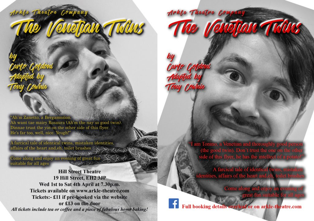 Arkle Theatre Company The Venetian Twins promotional flyer
